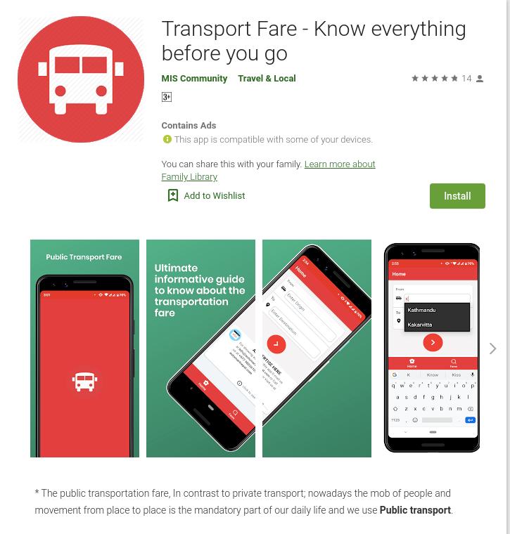 Public Transport Fare - Jeeven Lamichhane